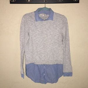 Ann Taylor LOFT - sweater with tunic under shirt